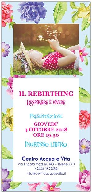 Rebirthing Acqua e Vita fronte